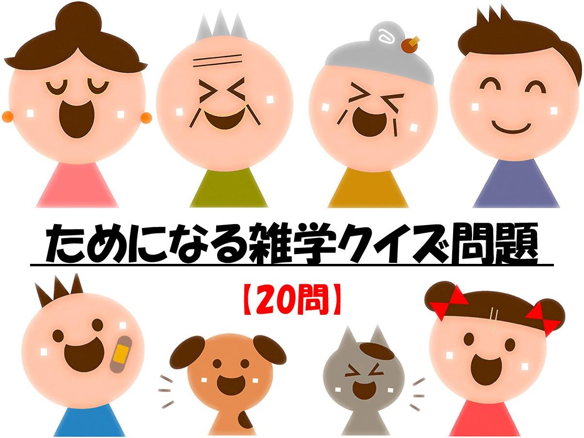【ためになる雑学クイズ 全30問】面白い!!子供から高齢者まで楽しめる三択問題!